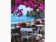 Море, морской пейзаж, корабли Уютное кафе