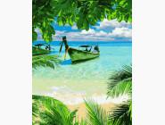 Море, морской пейзаж, корабли Лодка у берега