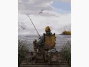 Портреты, люди на картинах по номерам Вечерняя рыбалка