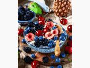 Картины по номерам для кухни Ягодный завтрак
