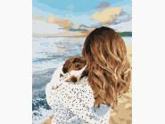 Портреты, люди на картинах по номерам Девушка с собакой