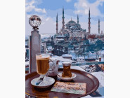 Городской пейзаж Завтрак в Стамбуле