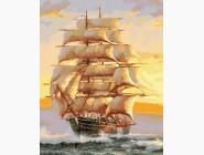 Море, морской пейзаж, корабли Попутный ветер в парусах