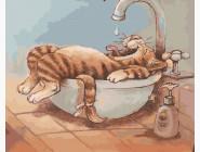 картина по номерам Ванная для лентяя