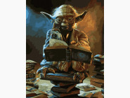 Картины по номерам для детей Мудрый мастер Йода