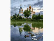 картина по номерам Церковь за рекой