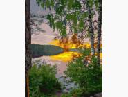 Пейзаж и природа Закат у озера