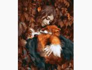 Портреты, люди на картинах по номерам Осенняя