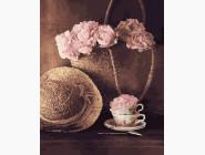 Цветы, натюрморты, букеты Соломенная шляпка