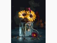 Цветы, натюрморты, букеты Золотистые герберы