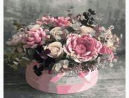 Цветы, натюрморты, букеты Розовое ассорти