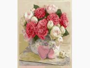 Цветы, натюрморты, букеты Розовая композиция