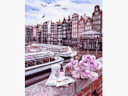 Городской пейзаж Путешествие по Амстердаму
