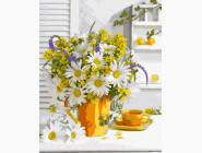 Цветы, натюрморты, букеты Утро и ромашки