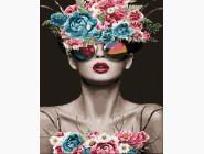 Портреты, люди на картинах по номерам Женщина в очках