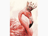 Птицы и бабочки картины по номерам Королевский фламинго