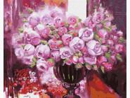 Цветы, натюрморты, букеты Фиолетовое сияние в вазе