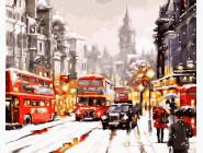 Городской пейзаж Лондон с красным акцентом