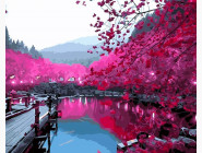 Вишневый сад в цвету