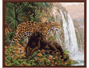 Животные и рыбки Хищники у водопада