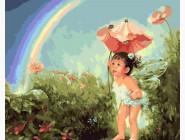 Малышка в волшебном саду