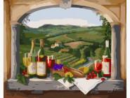 Вид на виноградники