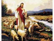 Портреты, люди на картинах по номерам Иисус и овцы