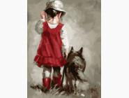 Малышка с собакой