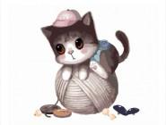 Котик с клубком