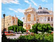 Городской пейзаж Одесса. Оперный театр летом