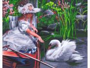 Девочка и лебедь