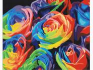 Букеты и натюрморты: картины без коробки Радужные розы