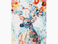 Животные: картины без коробки Красочный олень