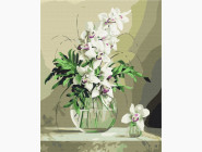 Букеты и натюрморты: картины без коробки Орхидеи в вазе