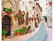 Города мира и Украины: картины без коробки Цветочная улица
