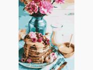 Раскраски для кухни Панкейки на завтрак