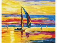 Морской пейзаж: картины без коробки Восход на плаву