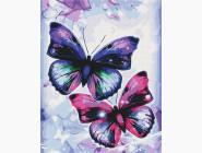 Птицы и бабочки: картины без коробки Блестящие бабочки