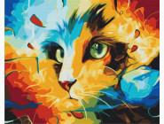 Коты и собаки: картины без коробки Кот в ярких красках