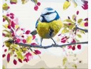 Птицы и бабочки: картины без коробки Весенняя синичка