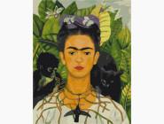 Портреты и знаменитости: раскраски без коробки Фрида Кало. Автопортрет