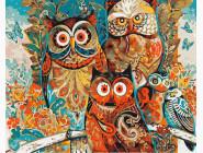 Птицы и бабочки: картины без коробки Волшебные совы