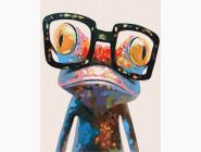 Животные: картины без коробки Лягушка в очках