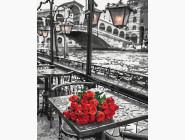 Города мира и Украины: картины без коробки Розы под дождем
