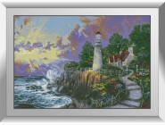 Морские пейзажи Маяк на закате