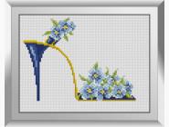Цветы и букеты Туфелька с незабудками
