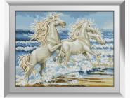 Животные и жители моря Белые лошади