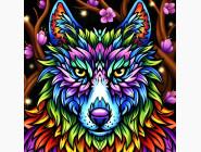 Новинки алмазной вышивки Красочный волк