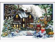 Вышивка с пейзажами Наступает зима (DO100302) 60 х 40 см
