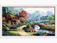 Вышивка с пейзажами Красивая деревня (DO130001) 25 х 45 см